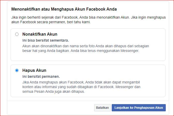 cara blokir akun facebook sendiri selamanya