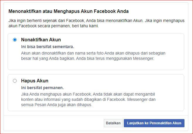 cara blokir akun facebook sendiri