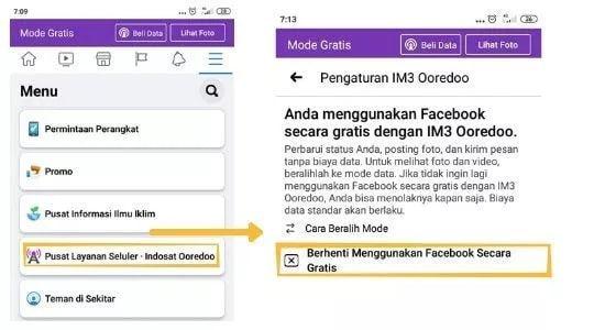 cara menghilangkan mode gratis fb